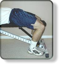 Bench press foot placement