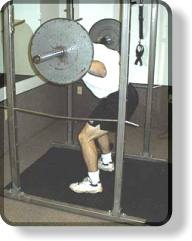Barbell Squats - leanind forward