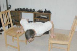 Between Chair/Bed Push-Ups