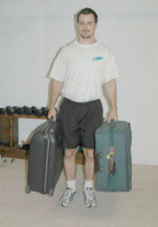 Suitcase Farmers Walk - Two Arms and One Arm