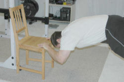Bodyweight Tricep Extension using a chair