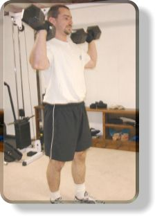 Overhead Dumbell Walking