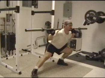 Barbell Side Lunges In Action