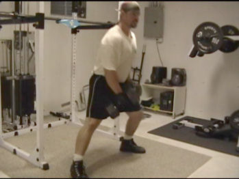 Dumbbell Side Lunges In Action