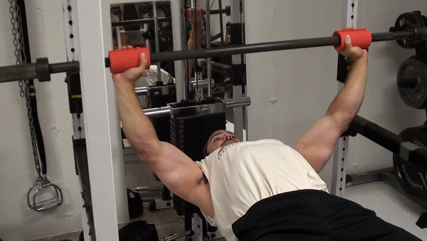 Bench Press With Fat Gripz