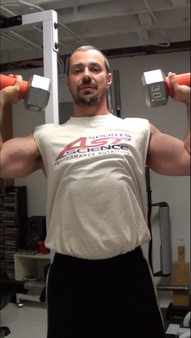 Fat Gripz on shoulder presses