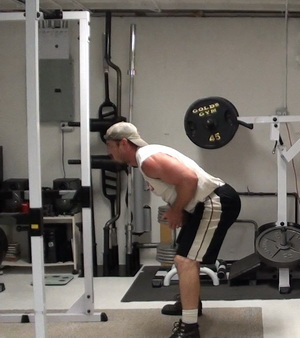 Single Vertical Dumbbell Rows