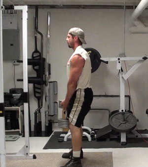 Single Dumbbell Stiff-Legged Deadlifts
