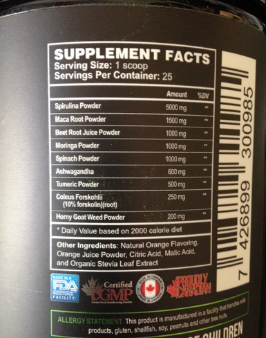 High Quality Greens Supplement
