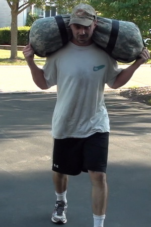 Carrying things for distance.