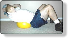 Abdominal Crunch on Small Ball -Easier position