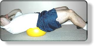 Abdominal Crunch on Small Ball - Harder position
