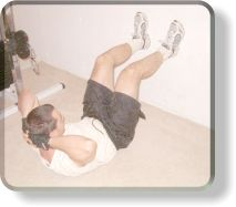 Feet on Wall Crunches