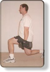Glute training - lunging