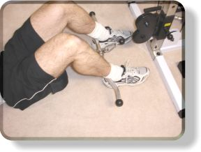Anchoring Yourself For Lying Cable Tricep Extensions