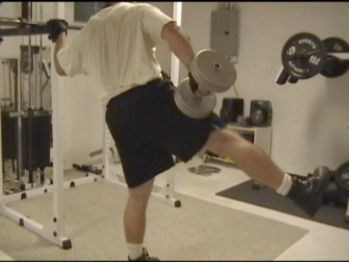 Side Dumbbell Abductions In Action