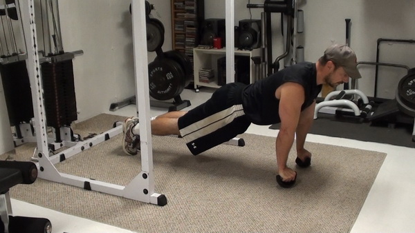 Straight Arm Unstable Plank